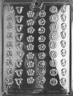 Small Assorted Flowers Chocolate Mold LARGE
