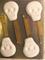 Skull Chocolate Sucker Mold - Large Smooth THUMBNAIL