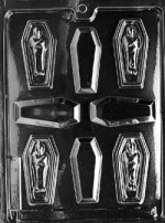 Casket w/Mummy Chocolate Mold THUMBNAIL