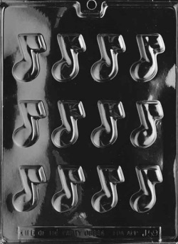 Musical Note Chocolate Mold