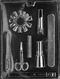 Manicure Set Chocolate Mold