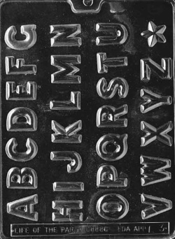 "Alphabet A - Z Chocolate Mold - 1-1/4"" LARGE"