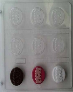 Mom on Oval Chocolate Mold