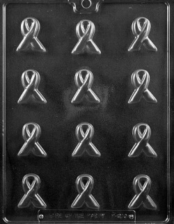 Awareness Ribbon Chocolate Mold - Bite Size LARGE