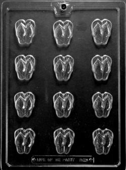Flip Flop Chocolate Mold - Bite Size LARGE