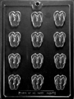 Flip Flop Chocolate Mold - Bite Size