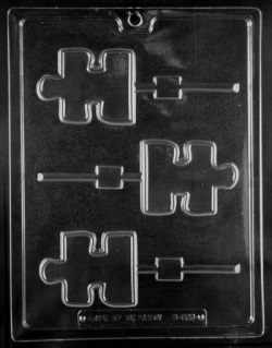Puzzle Piece Chocolate Sucker Mold