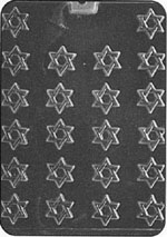 Bite-Size Star Of David Chocolate Mold