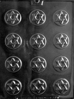Star of David Mint Chocolate Mold LARGE