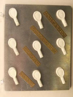 Small Tennis Racquet Chocolate Mold