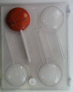 Basketball Chocolate Sucker Mold LARGE