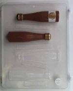 Small 3-D Champagne Bottle Chocolate Mold_THUMBNAIL