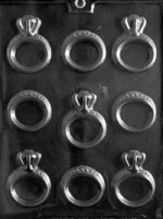 Engagement/Wedding Ring Chocolate Mold