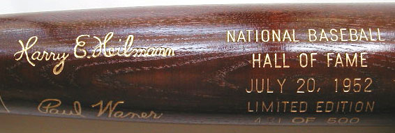 1952 Hall of Fame Induction Bat