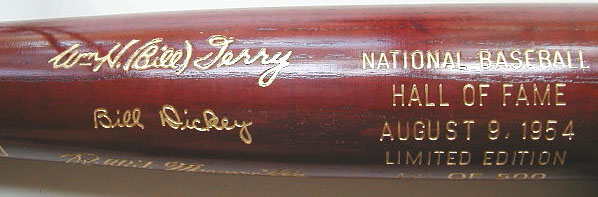 1954 Hall of Fame Induction Bat MAIN