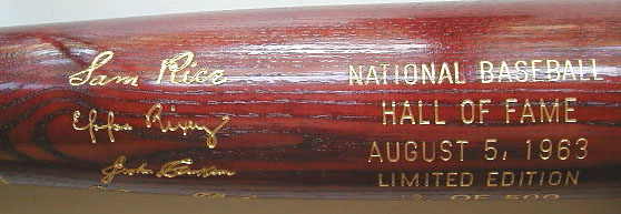 1963 Hall of Fame Induction Bat MAIN