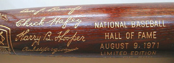 1971 Hall of Fame Introduction Bat