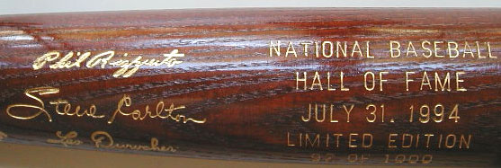 1994 Hall of Fame Induction Bat MAIN