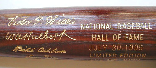 1995 Hall of Fame Induction Bat MAIN