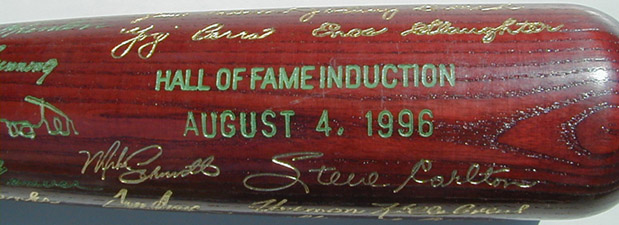 1996 Hall of Fame Induction Day Commemorative Bat