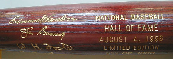 1996 Hall of Fame Induction Bat