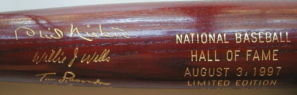 1997 Hall of Fame Induction Bat