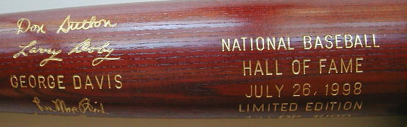 1998 Hall of Fame Induction Bat