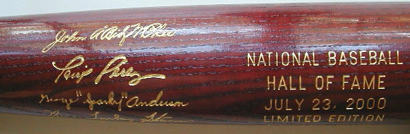 2000 Hall of Fame Induction Bat