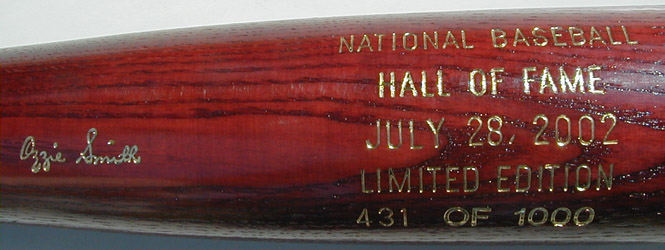 2002 Hall of Fame Induction Bat MAIN