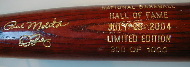 2004 Hall of Fame Induction Bat MAIN
