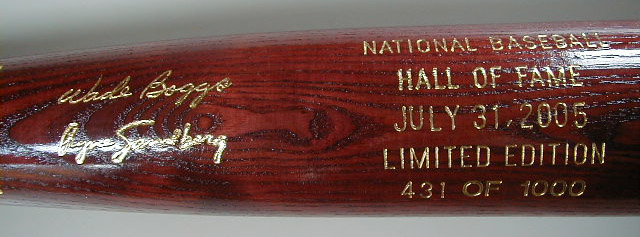 2005 Hall of Fame Induction Bat