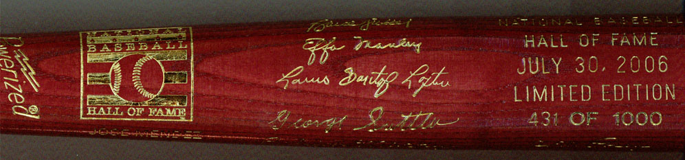 2006 Hall of Fame Induction Bat