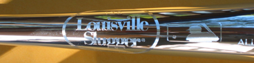 2007 All-Star Game Louisville Slugger silver baseball bat_SWATCH