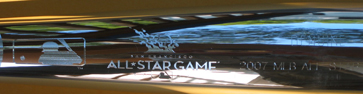 2007 All-Star Game Louisville Slugger silver baseball bat SWATCH