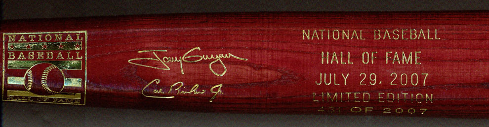 2007 Hall of Fame Induction Bat MAIN