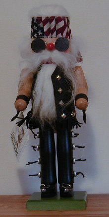 """Bill The Biker"" Collectible Christian Ulbricht  Nutcracker MAIN"