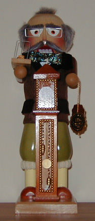 """Hickory Dickory Dock"" Limited Edition Steinbach Nutcracker ( signed by Mr. Steinbach)"
