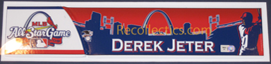 2009 All-Star Game Derek Jeter Game-Used Locker Name Plate LH705812 Mini-Thumbnail