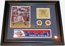 2009 All-Star Game Derek Jeter Game-Used Locker Name Plate LH705812 MAIN