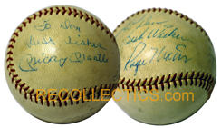 Mickey Mantle and Roger Maris Signed Ball