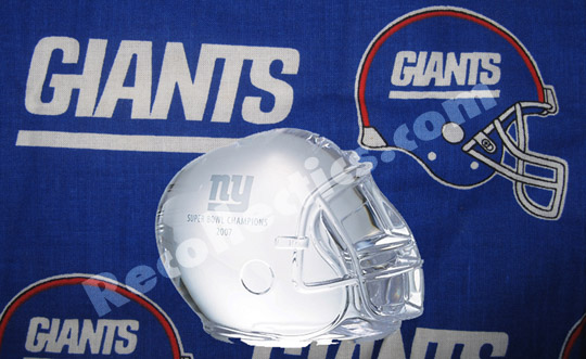 New York Giants Super Bowl Helmet Paperweight