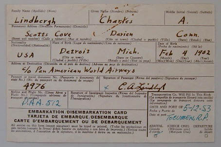 Charles Lindbergh DS - signed twice MAIN