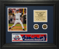 2009  All-Star Game Mariano Rivera Game-Used Locker Name Plate LH705830