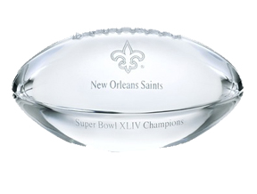 New Orleans Saints Super Bowl Football Paperweight