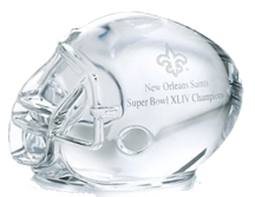 New Orleans Saints Super Bowl Helmet Paperweight
