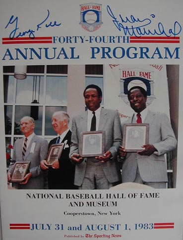 Autographed 1983 National Baseball Hall of Fame