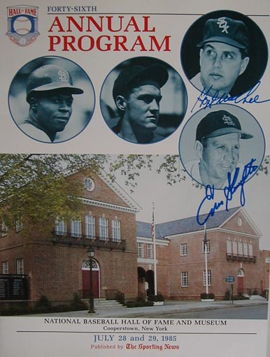 Autographed 1985 National Baseball Hall of Fame