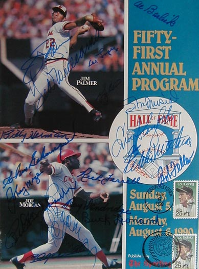 Autographed 1990 National Baseball Hall of Fame MAIN