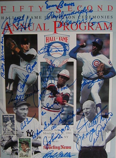 Autographed 1991 National Baseball Hall of Fame