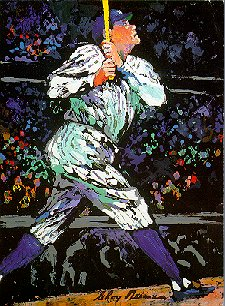 LeRoy Neiman's limited edition serigraph, 'THE BABE'_THUMBNAIL